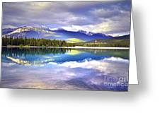 Light Play At Lake Annette Greeting Card