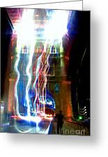 Light Play On Tower Bridge Greeting Card