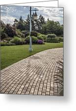 Light Post And Walkway At Michigan State University Greeting Card