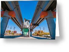 Light Rail Train Station In   Charlotte Nc Greeting Card