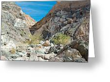 Light Side And Dark Side In Big Painted Canyon In Mecca Hills-ca Greeting Card