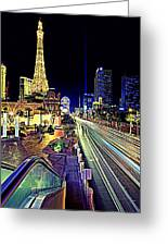 Light Speed Vegas Greeting Card