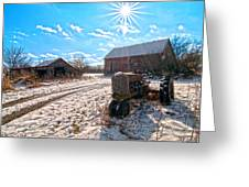Light Still Shines But Good Times Gone Greeting Card