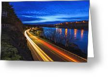 Light Trails On 99e Greeting Card
