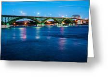 Light Up The Peace Bridge Greeting Card