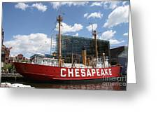 Light Vessel Chesapeake - Baltimore Harbor Greeting Card