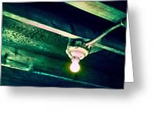 Lightbulb And Cobwebs Greeting Card
