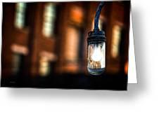 Lightbulb Bates Mill #5 Greeting Card