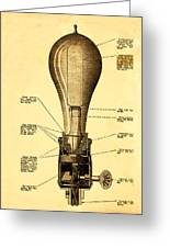 Lightbulb Patent Greeting Card