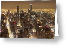 Lighted Downtown Greeting Card