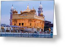 Lighted Golden Temple Greeting Card