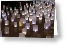 Lighted Lantern Bags Greeting Card