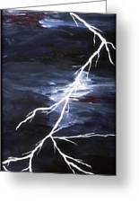 Lightening Bolt Painting Fine Art Print Greeting Card