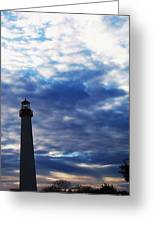 Lighthouse At Cape May Nj Greeting Card