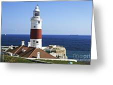 Lighthouse At Europa Point Gibraltar Greeting Card
