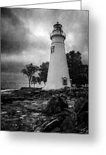 Lighthouse At Marblehead Greeting Card