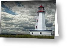 Lighthouse At North Cape On Prince Edward Island Greeting Card