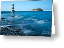 Lighthouse At Penmon Point Greeting Card