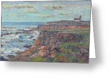 Lighthouse At Point Cabillo  Greeting Card