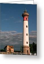 Lighthouse At Ouistreham Greeting Card