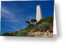 Lighthouse At Saint-jean-cap-ferrat France French Riviera Greeting Card
