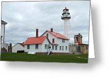 Lighthouse At Whitefish Greeting Card