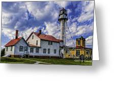 Lighthouse At Whitefish Point Greeting Card