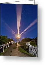 Lighthouse Beams By The Southern Cross Greeting Card