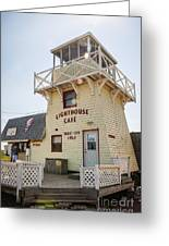 Lighthouse Cafe In North Rustico Greeting Card