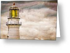 Lighthouse Cape Elizabeth Maine Greeting Card