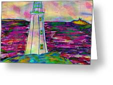 Lighthouse Digital Color Greeting Card