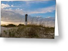 Lighthouse Dunes Greeting Card