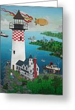 Lighthouse Fishing Greeting Card