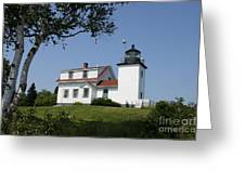 Lighthouse Fort Point Greeting Card