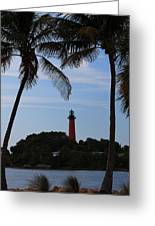 Lighthouse From Afar Greeting Card
