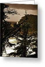 Lighthouse From The Distance Greeting Card