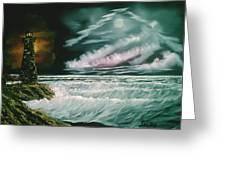 Lighthouse Glow Greeting Card