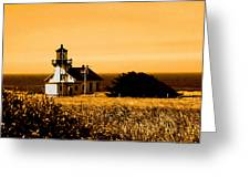Lighthouse In Autumn Greeting Card