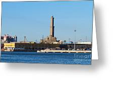 Lighthouse In Genova. Italy Greeting Card