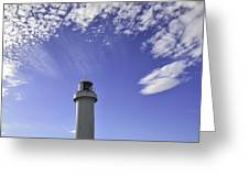 Lighthouse In The Sky Greeting Card