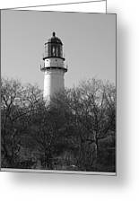 Lighthouse In Trees Greeting Card