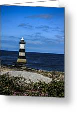 Lighthouse Isle Of Anglessy Wales Greeting Card