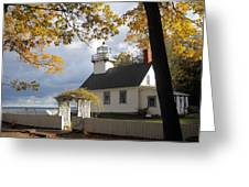 Old Mission Point Greeting Card