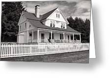 Lighthouse Keepers House  Greeting Card
