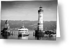 Lighthouse Lindau Lake Constance Germany Greeting Card