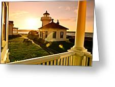 Lighthouse Mukilteo Greeting Card
