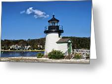 Lighthouse Mystic Seaport Greeting Card