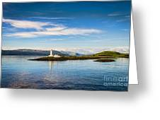 Lighthouse Near Oban In Scotland Greeting Card