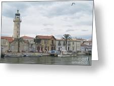 Lighthouse Of Le Grau Du Roi In France Greeting Card