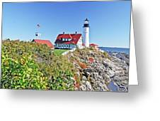 Lighthouse Of Maine Greeting Card